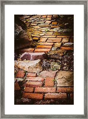 Framed Print featuring the photograph The Yellow Brick Road by Beverly Parks