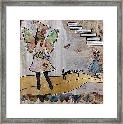 The Yellow Brick Road Framed Print by Debbie Hornsby