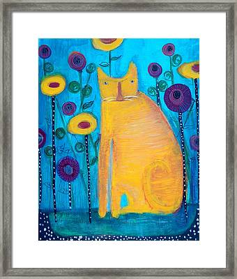 The Yellow Cat Framed Print by Linda MorganSmith