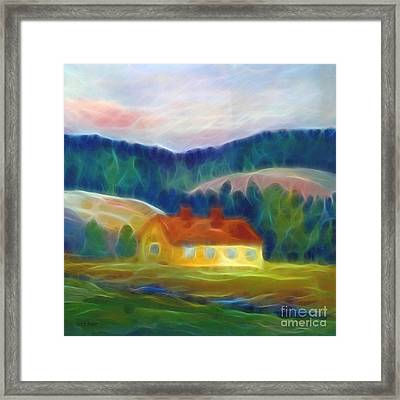 The Yellow Cottage Framed Print by Lutz Baar
