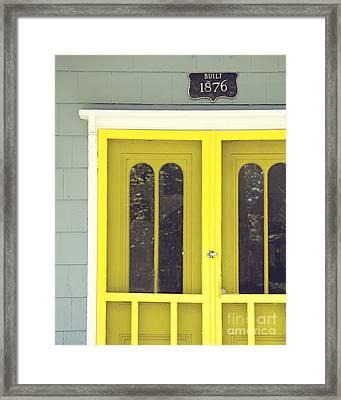The Yellow Door Framed Print