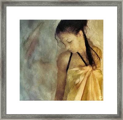 The Yellow Dress Framed Print by Gun Legler