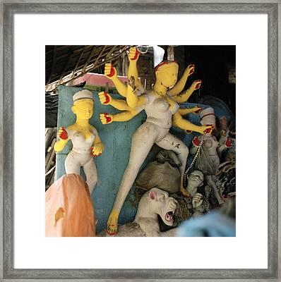 The Yellow Durga Framed Print by Shaun Higson