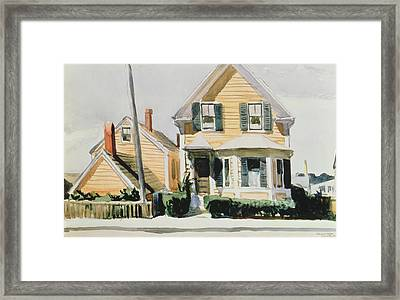 The Yellow House Framed Print by Edward Hopper