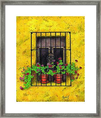The Yellow House Framed Print by Lew Davis