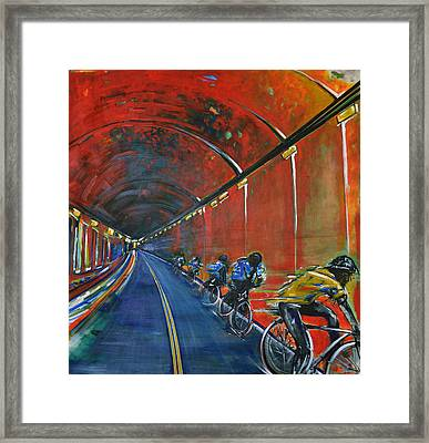 The Yellow Jersey Framed Print by Nancy Hilliard Joyce