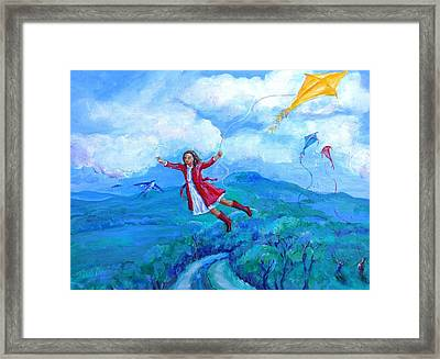 The Yellow Kite  Framed Print