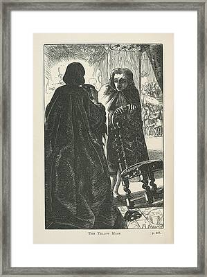 The Yellow Mask Framed Print by British Library