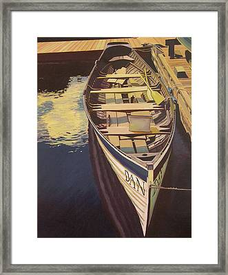 The Yellow Paddle Framed Print by Thu Nguyen