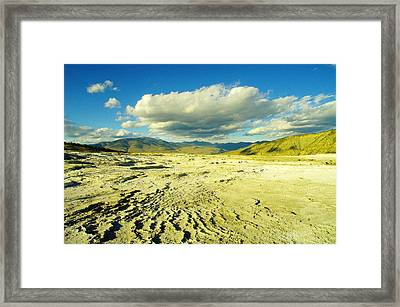 The Yellow Rock Of Yellowstone Framed Print by Jeff Swan