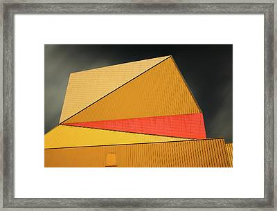 The Yellow Roof Framed Print by Gilbert Claes