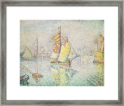 The Yellow Sail, Venice, 1904 Framed Print by Paul Signac
