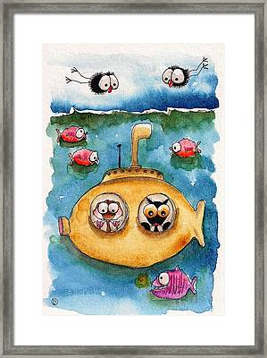 The Yellow Submarine Framed Print by Lucia Stewart