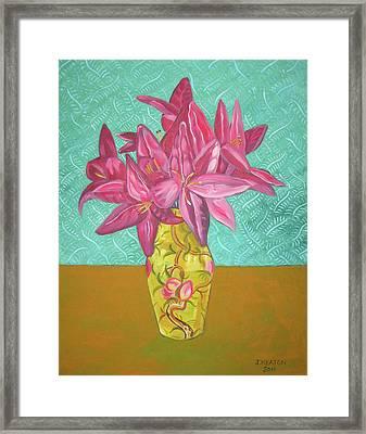 The Yellow Vase Framed Print by John Keaton