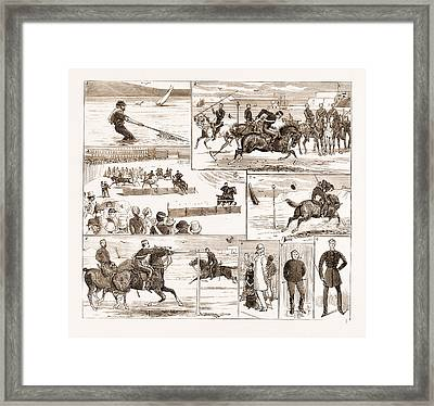 The Yeomanry Week At Weymouth, Uk, 1881 1. Business Framed Print