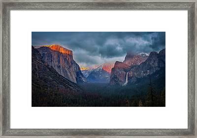 The Yin And Yang Of Yosemite Framed Print
