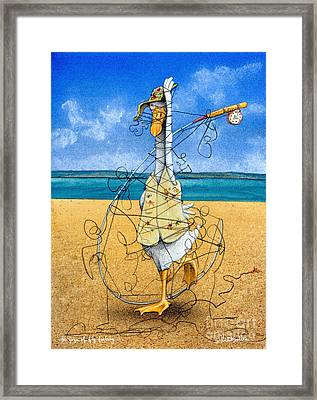 The Yoga Of Fly Fishing... Framed Print