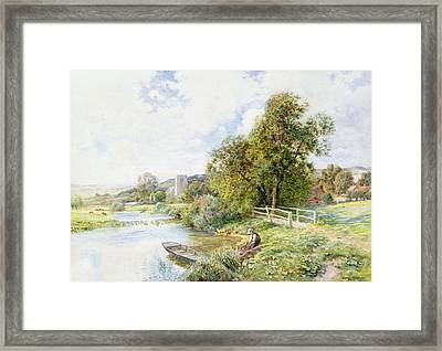 The Young Angler Framed Print