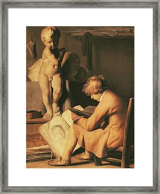 The Young Artist Framed Print by Jan the Elder Lievens