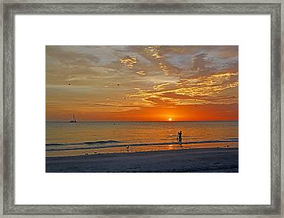 The Young Fisherman Framed Print by HH Photography of Florida