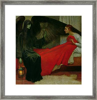 The Young Girl And Death Framed Print by Marianne Stokes