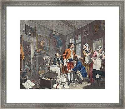 The Young Heir Takes Possession Framed Print by William Hogarth