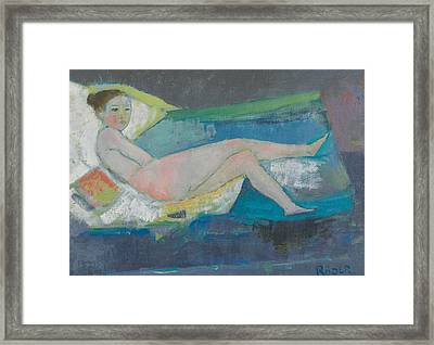 The Young Model  Framed Print