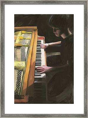 The Young Pianist Framed Print