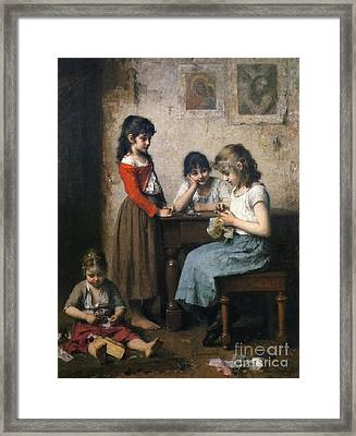 The Young Seamstress Framed Print