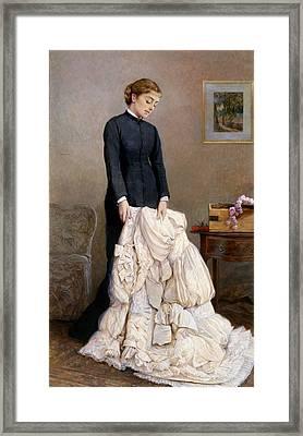 The Young Widow, 1877 Framed Print by Edward Killingworth Johnson