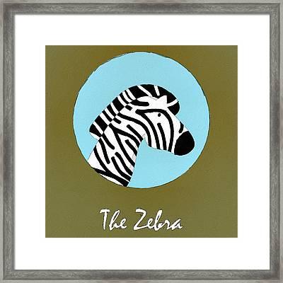 The Zebra Cute Portrait Framed Print by Florian Rodarte