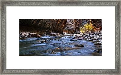 The Zion Narrows Panorama Framed Print by Andrew Soundarajan