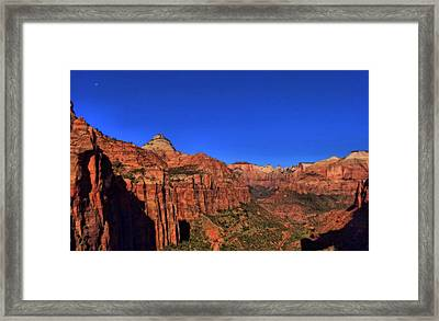 The Zion Valley From The Outlook In Utah Framed Print