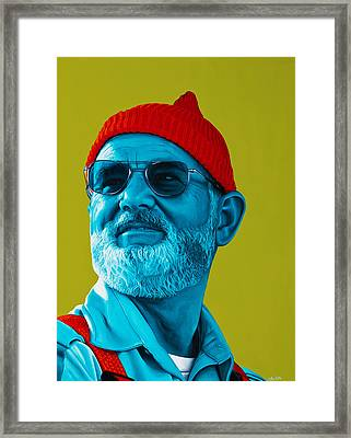The Zissou- Background Edit Framed Print by Ellen Patton