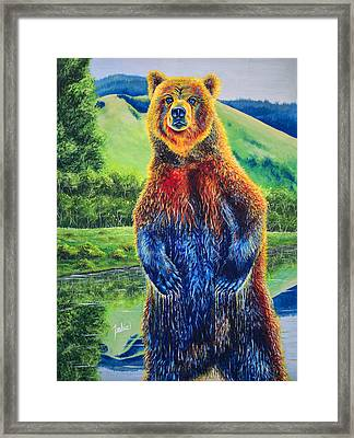 The Zookeeper Framed Print by Teshia Art