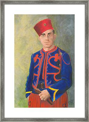 The Zouave Framed Print by Dominic Sanson