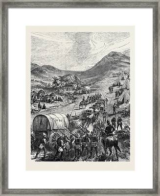 The Zulu War Camp Of The 80th Regiment On The Zulu Border Framed Print by English School