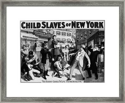 Theater Child Slaves, C1903 Framed Print by Granger