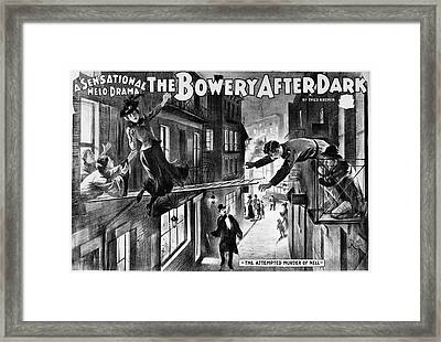 Theater Melodrama, C1899 Framed Print by Granger