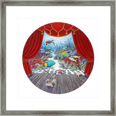 Theater Of The Sea Framed Print by Danielle  Perry