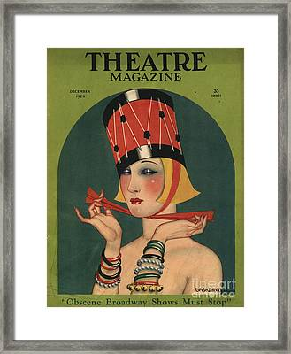 Theatre 1923 1920s Usa Magazines Art Framed Print
