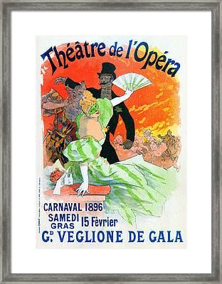 Theatre De Opera 1896 Carnival Framed Print by Charlie Ross