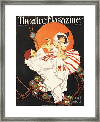 Theatre Magazine 1920s Usa Pierrot Framed Print by The Advertising Archives