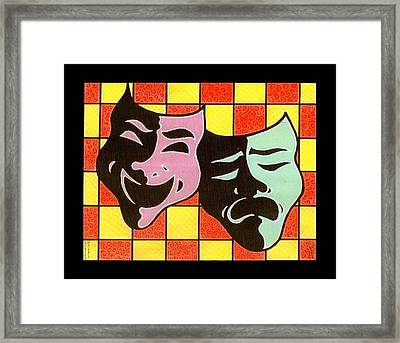Theatre Masks Framed Print by Jim Harris
