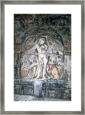 Theatre Relief 1 Framed Print by Leisa Shannon Corbett