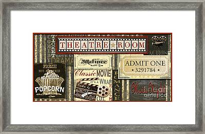 Theatre Room Framed Print by Jean Plout