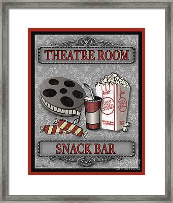 Theatre Room-jp2207 Framed Print by Jean Plout