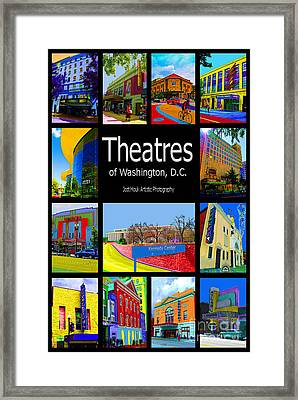 Theatres Of Washington Dc Framed Print by Jost Houk
