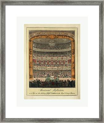 Theatrical Reflection, Or A Peep At The Looking Glass Framed Print by English School