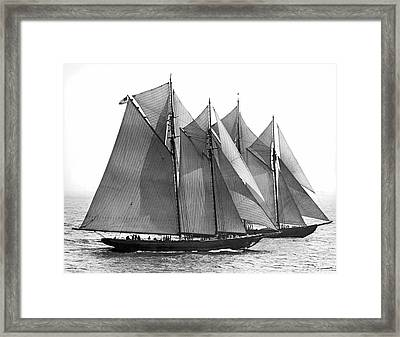 Thebaud Passes Bluenose Framed Print by Underwood Archives